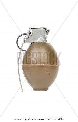 M26 FRAG model weapon armystandard timed fuze hand grenade on white background poster