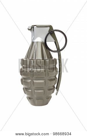 Mk2 Frag Explosive Model, Weapon Army,standard Timed Fuze Hand Grenade On White Background