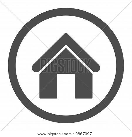 Home flat gray color rounded vector icon