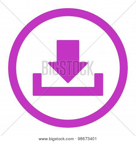 Download vector icon. This rounded flat symbol is drawn with violet color on a white background. poster