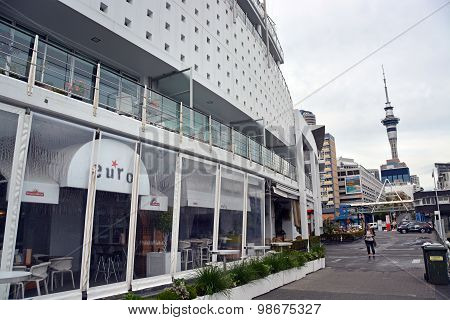 Hilton Hotel Shaped Like A Ship In Viaduct Basin, Auckland
