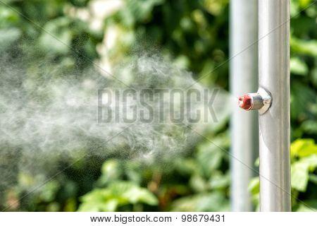 Vaporizer On A Garden Irrigation Pipe