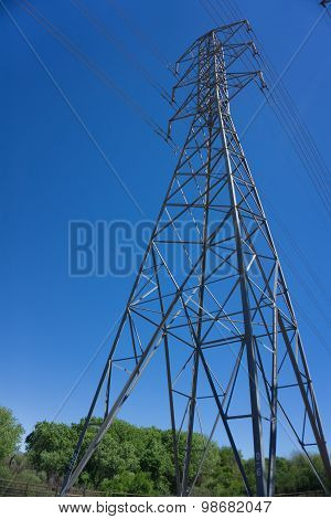 Tall Electric Powerline