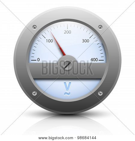 Analog Voltmeter. Vector Illustration