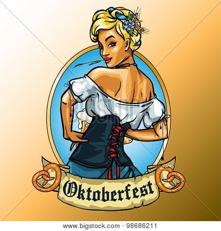 Pretty Bavarian girl label