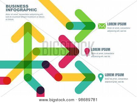 Vector Abstract Background With Multicolor Transparent Arrows. Business Template For Brochure, Flyer