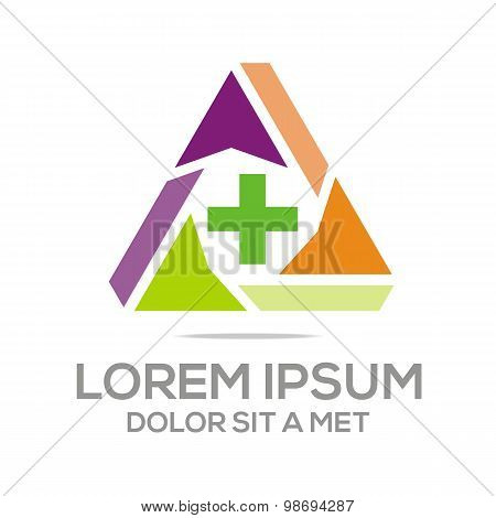Logo pharmacy medical plus healthy care medicine vector
