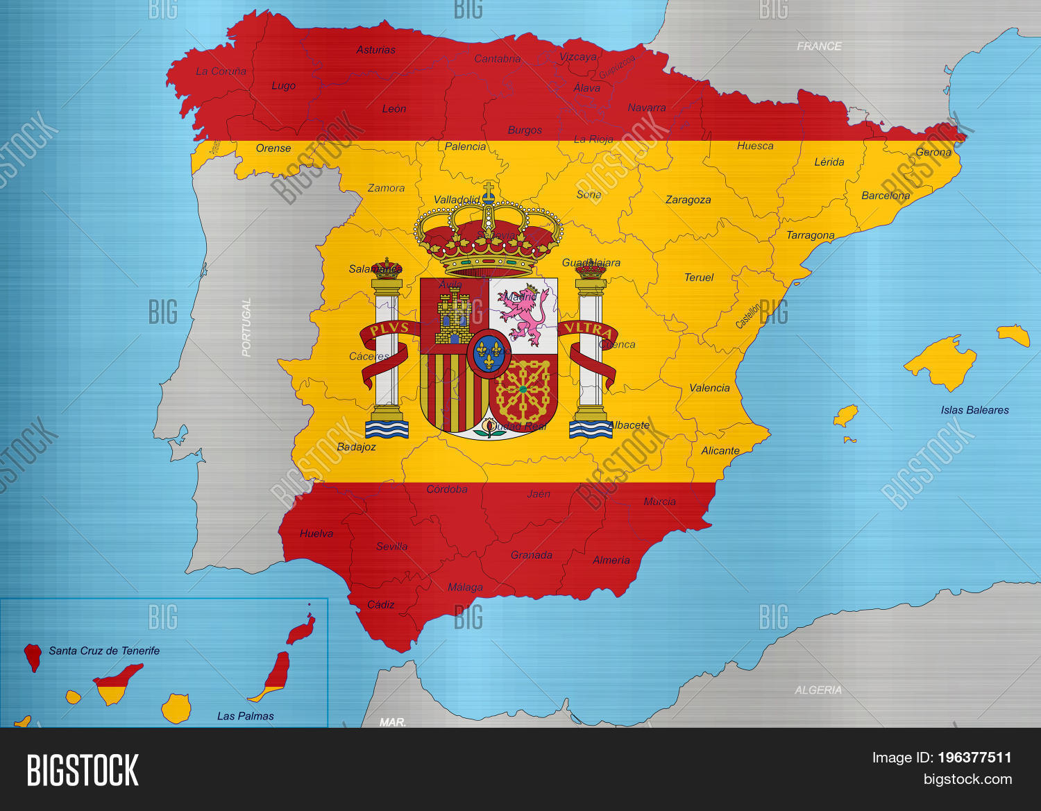 Spain Flag Map Regions Image & Photo (Free Trial) | Bigstock
