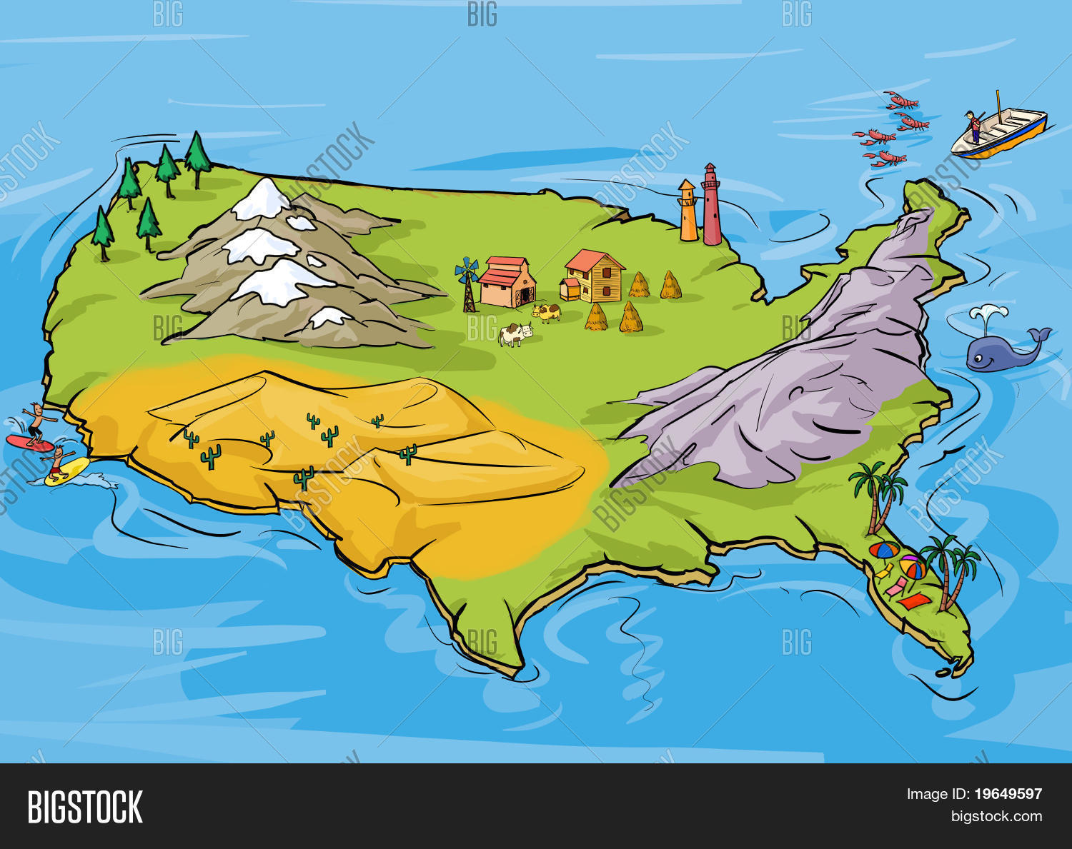 Picture of: Usa Map Image Photo Free Trial Bigstock
