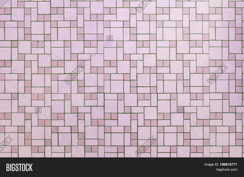 Vintage Pink Seamless 1950s Bathroom Tile Background