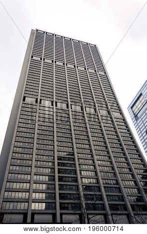 Chicago IL USA october 27 2016: exterior view of the Chase Tower located in the Chicago Loop area of Chicago. It's the 40th-tallest skyscraper in the United States