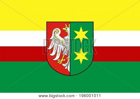 Flag of Lubusz Voivodeship or Lubuskie Province in western Poland. Vector illustration