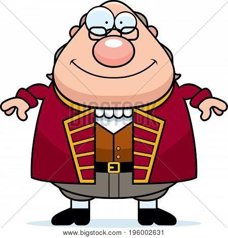 Happy Cartoon Ben Franklin
