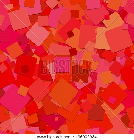 Seamless abstract geometrical square pattern background - vector design from rotated red squares with shadow effect