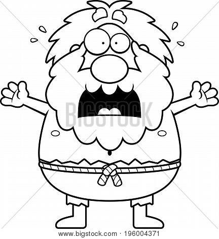 Scared Cartoon Hermit