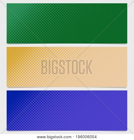 Abstract halftone dot pattern banner background - vector graphic from circles in varying sizes