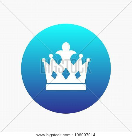 crown icon, monarch vector sign, eps 10 file, easy to edit