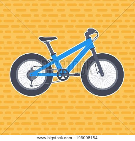 Fat bike vector illustration in flat style, eps 10 file, easy to edit