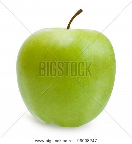 Green apple isolated over white, clipping path