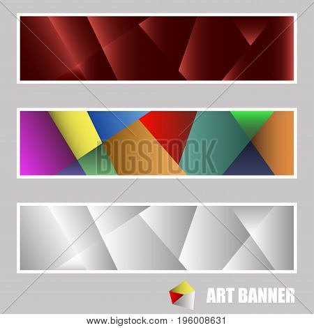 Set of banners for web design using triangulation