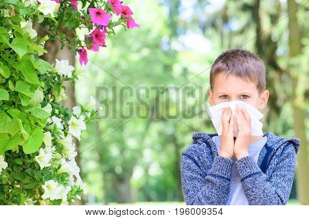 Allergy. Child has allergies from flower pollen