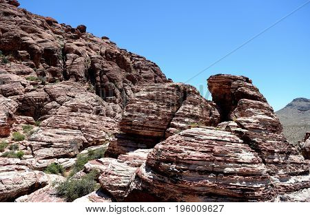 Rock Formation In Red Rock Canyon, Nevada