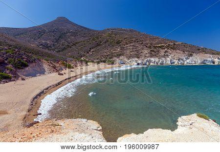 Agios Ioannis beach, Milos island, Cyclades, Greece