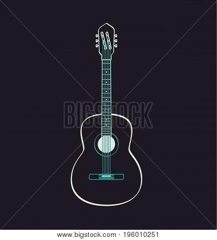 Guitar icon sign. Music concept. Vector stock.