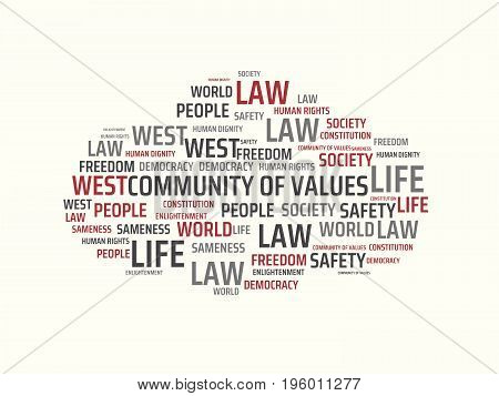 Community Of Values - Image With Words Associated With The Topic Community Of Values, Word, Image, I