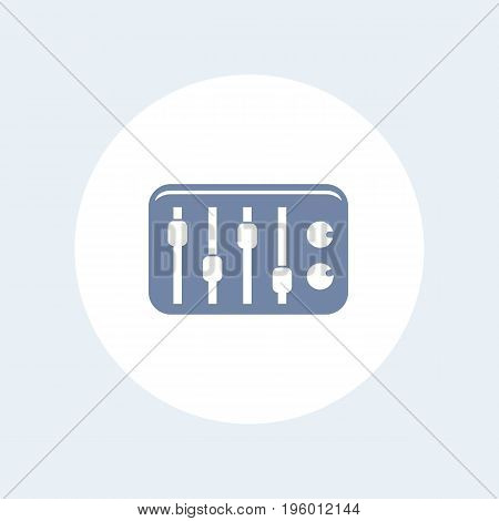 sound mixer icon isolated on white, eps 10 file, easy to edit