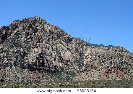 Mountain in Red Rock Canyon Nevada USA