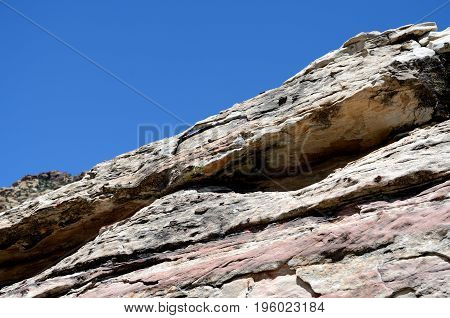 Rock Fragment Against The Blue Sky, Red Rock Canyon, Nevada