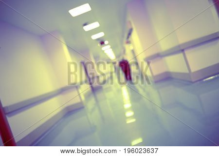 Human silhouette in the hospital hallway. Conceptual photo