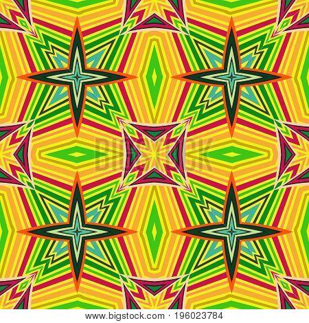 Tribal geometric vector pattern. Seamless ethnic background