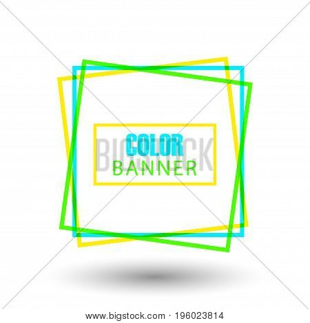 Colorful square shap. Square round banner for design element