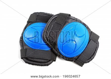 Knee Pads And Elbow Pads Isolated On White Background