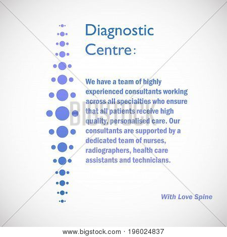 Spine diagnostic center logo on blue background