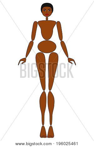 Female mannequin for fashion design - POSITION 01
