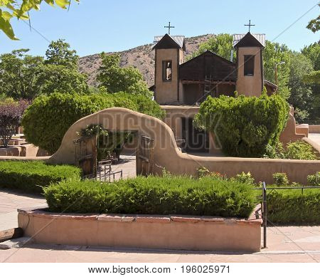 A Roman Catholic Church El Santuario de Chimayo in Chimayó New Mexico Built in 1816