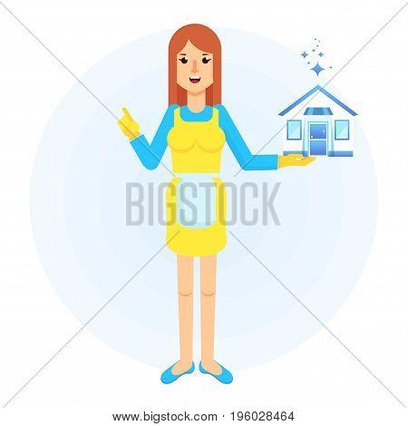 Service Woman Clean House