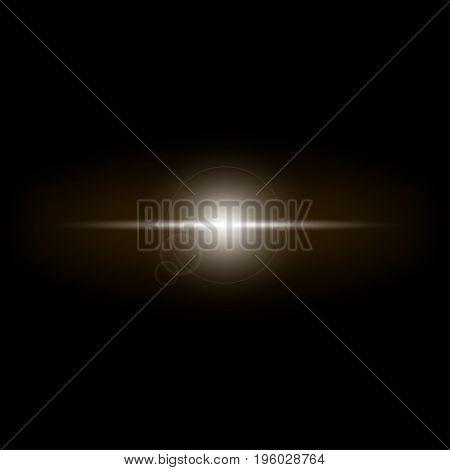 Bright star on a black background vector illustration