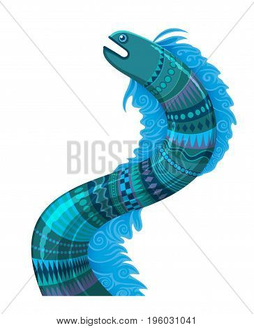 fantastic sea serpent or ocean dragon - sea fantastic animal