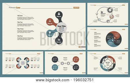 Infographic design set can be used for workflow layout, diagram, annual report, presentation, web design. Business and economics concept with process, and percentage charts.