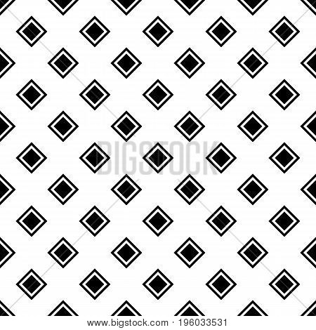 Abstract geometric monochrome repeating square pattern background design - vector graphic from diagonal squares