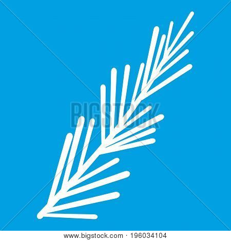 Rosemary spice icon white isolated on blue background vector illustration