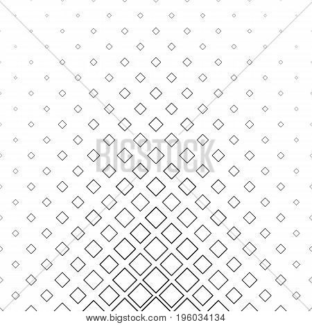 Black and white abstract square pattern background - monochrome vector design from diagonal squares