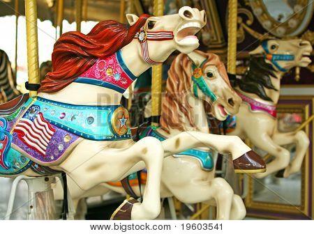 Karussell Pferd ritt