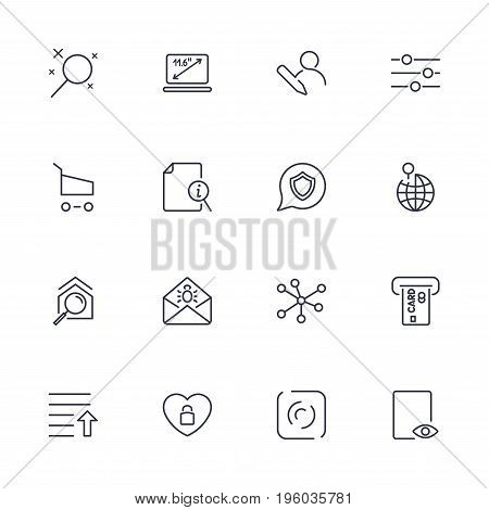 Set With Different Icons In Modern Style