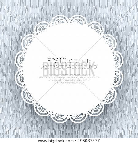 Abstract background with a white circle in the Center. The texture of the geometric shapes. Shades of gray.