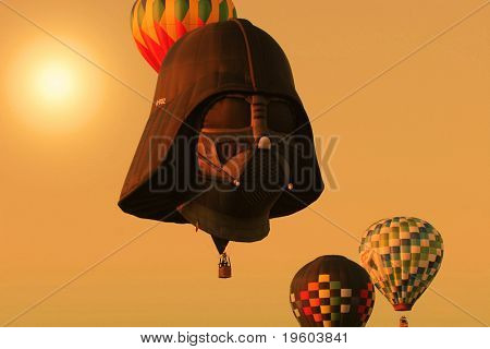 Whitehouse Station, NJ: The 26th Annual Hot Air Balloon Festival, featuring Darth Vader air ship on July 25th during sunset